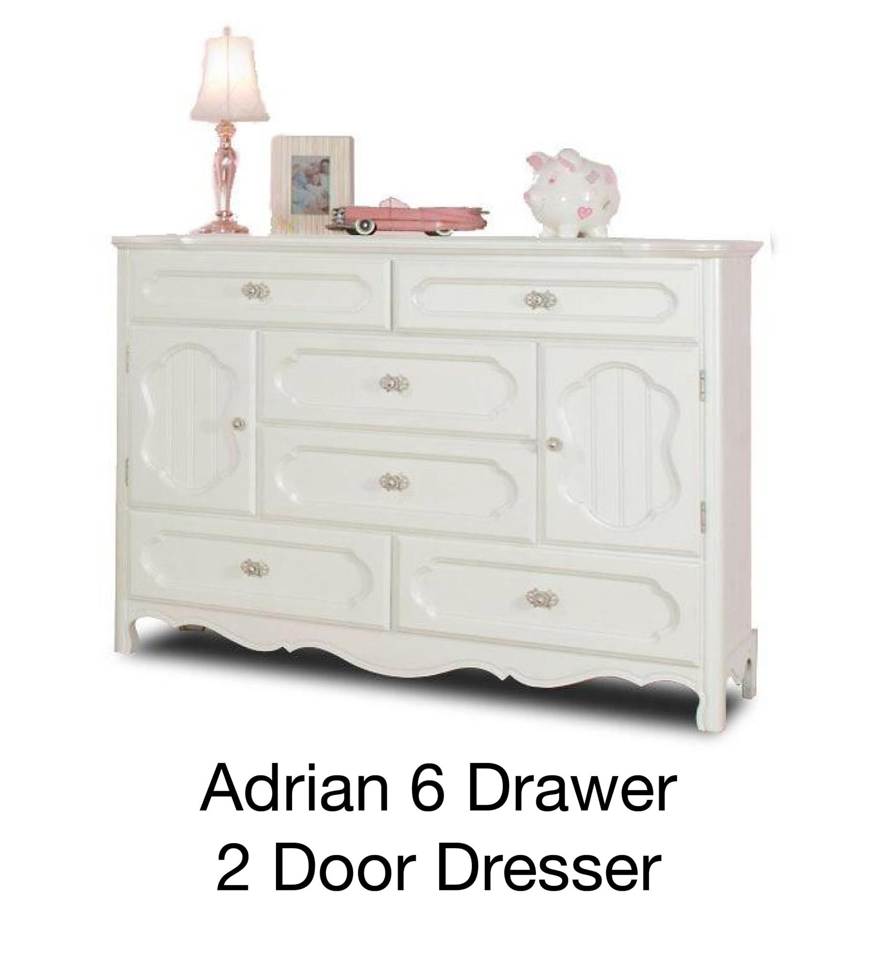Adrian 6 Drawer 2 Door Dresser