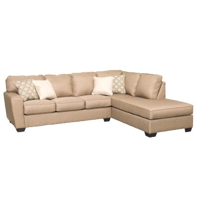CALICHO CASHMERE 2 PIECE SECTIONAL WITH RAF CHAISE