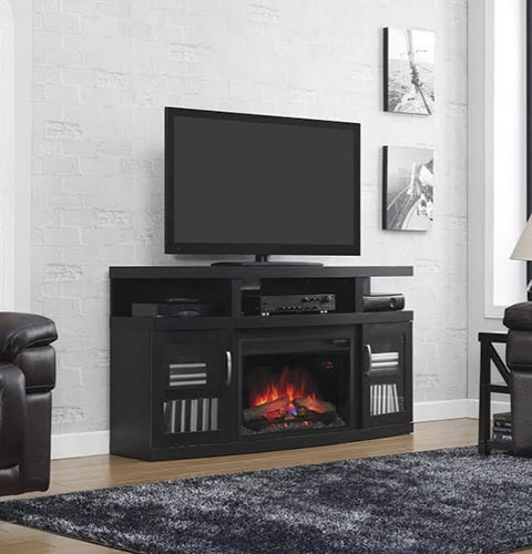 Cantilever Media Fireplace