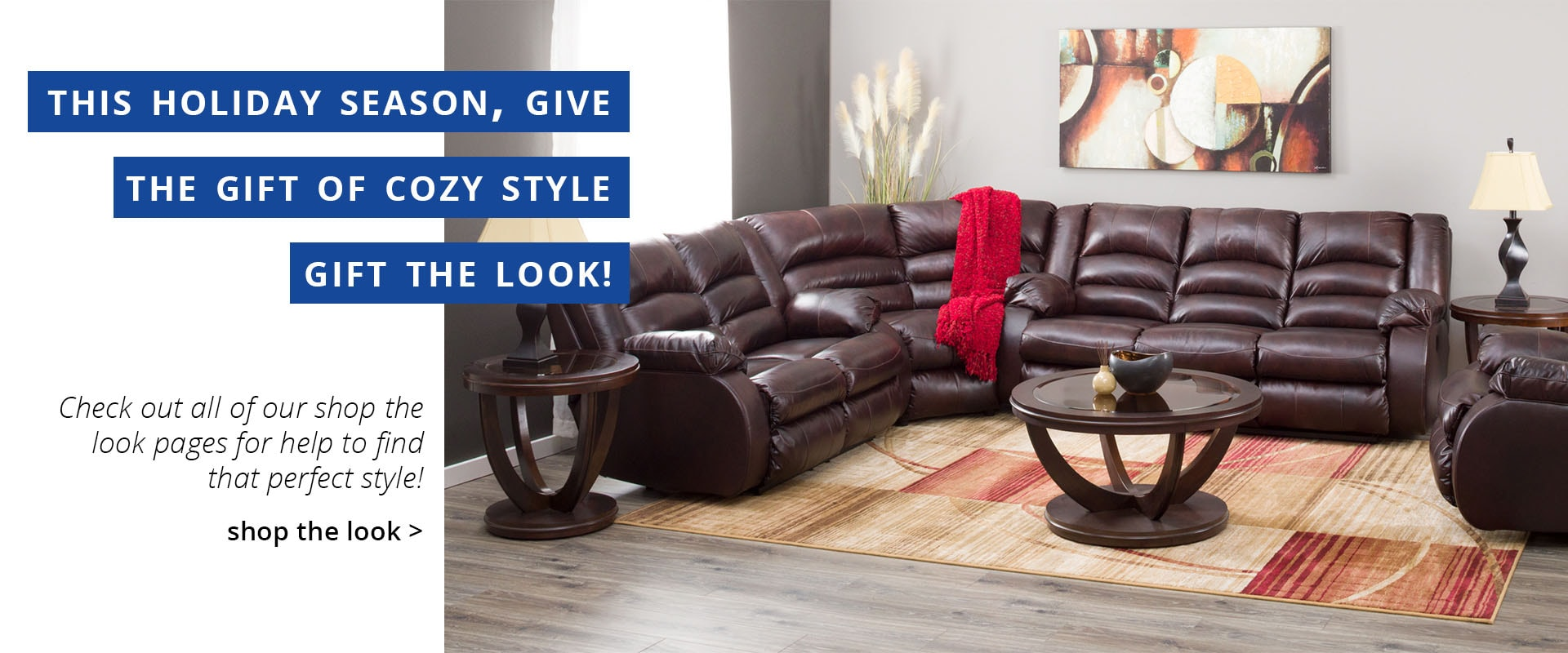American Furniture Warehouse Mobile Banner · Give The Gift Of Style, Gift  The Look!