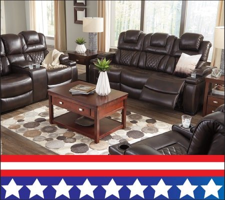 Warnerton Reclining Sofa w/ Drop Table