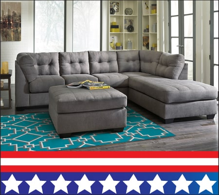 Charcoal 2PC Sectional w/Raf Chaise