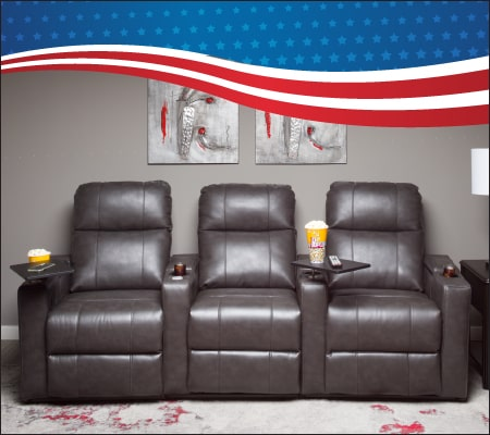 3PC Theater Gray Sectional