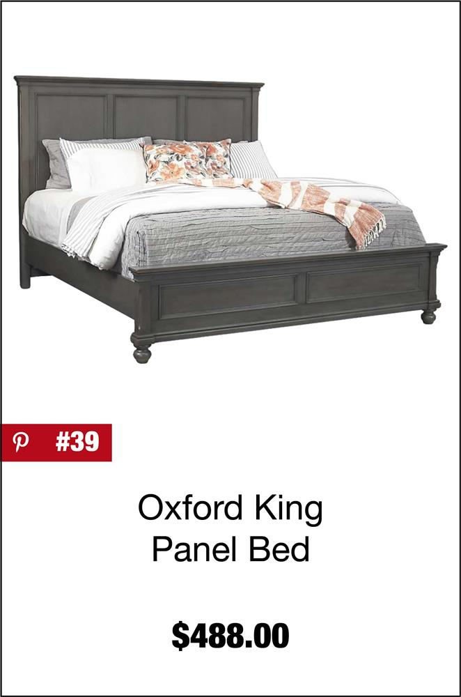 Oxford King Panel Bed