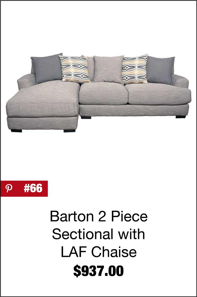 Barton 2PC Sectional with LAF Chaise