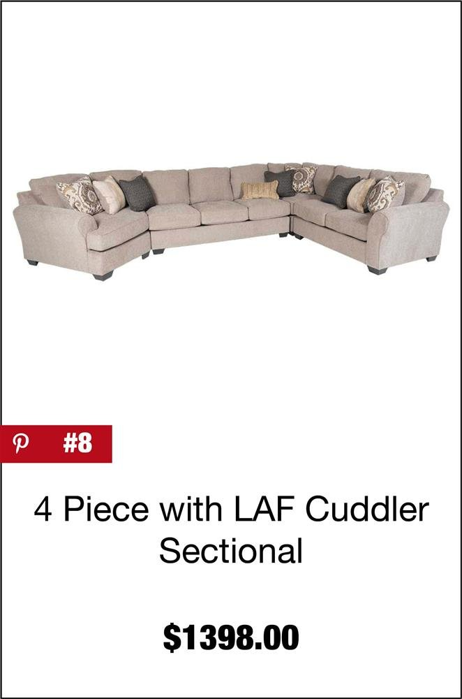 Pantomine 4PC with LAF Cuddler Sectional