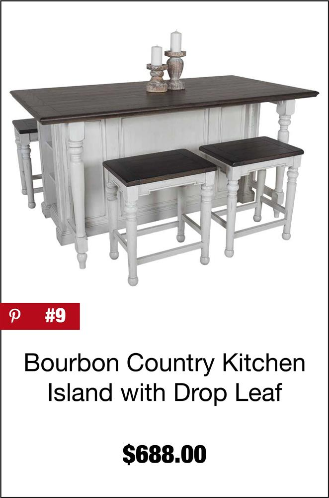 Bourbon County Kitchen Island with Drop Leaf