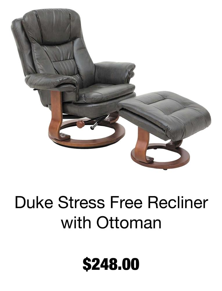 Duke Stress Free Recliner with Ottoman