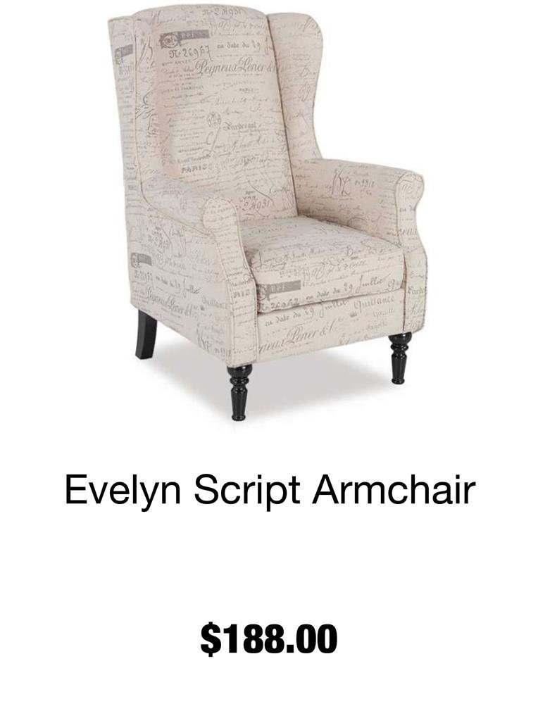 Evelyn Script Arm Chair