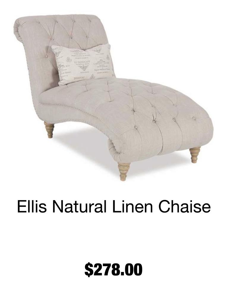 Ellis Natural Linen Chaise