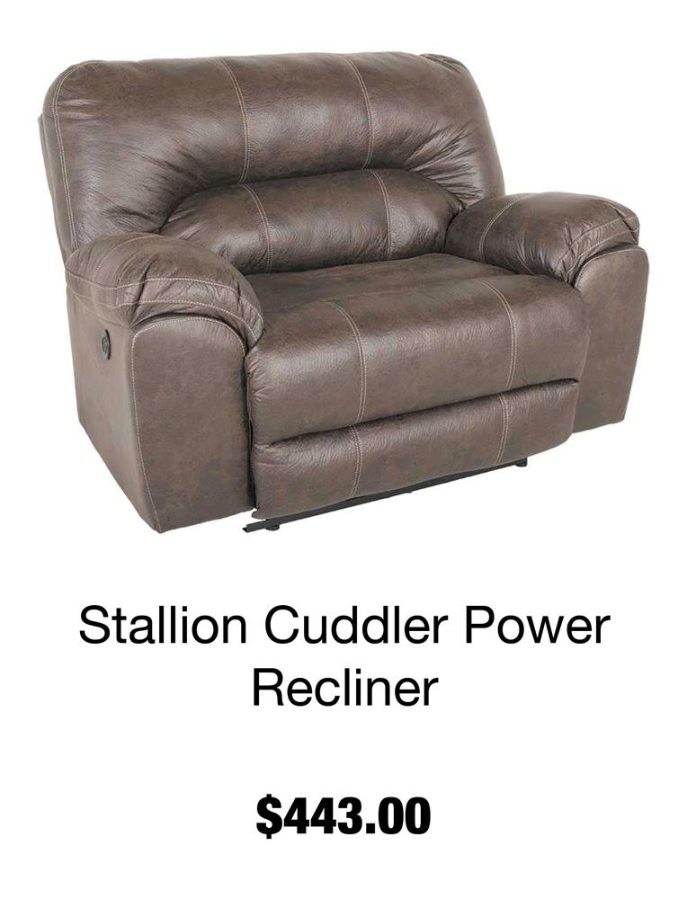 Stallion Cuddler Power Recliner