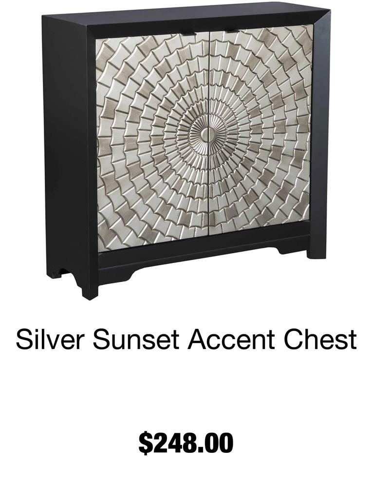 Silver Sunset Accent Chest