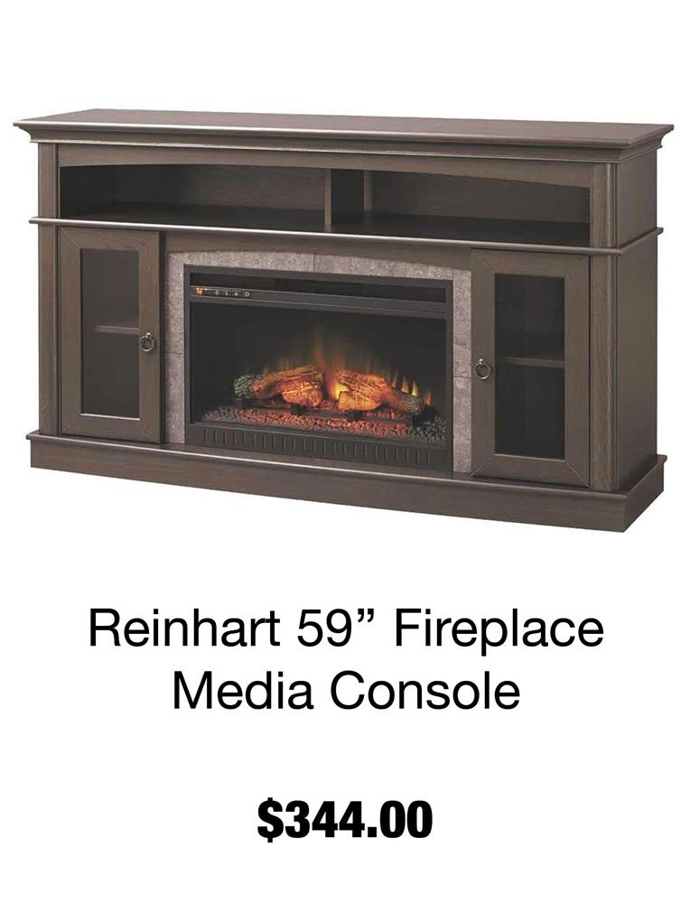Reinhart 59'' Fireplace Media Console