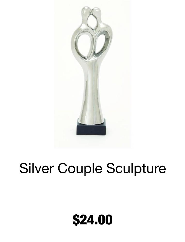 Silver Couple Sculpture