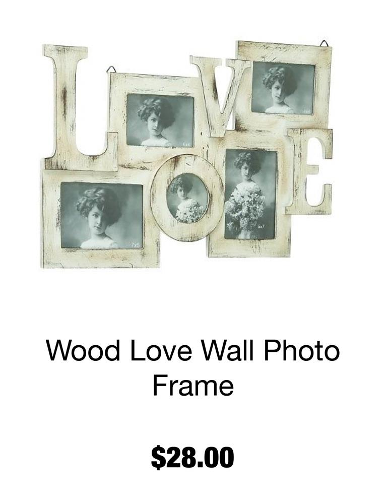 Wood Love Wall Photo Frame