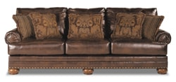 Bonded leather sofa
