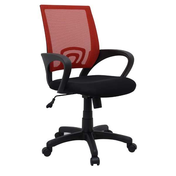 Office Chair Red Mesh/Fabric