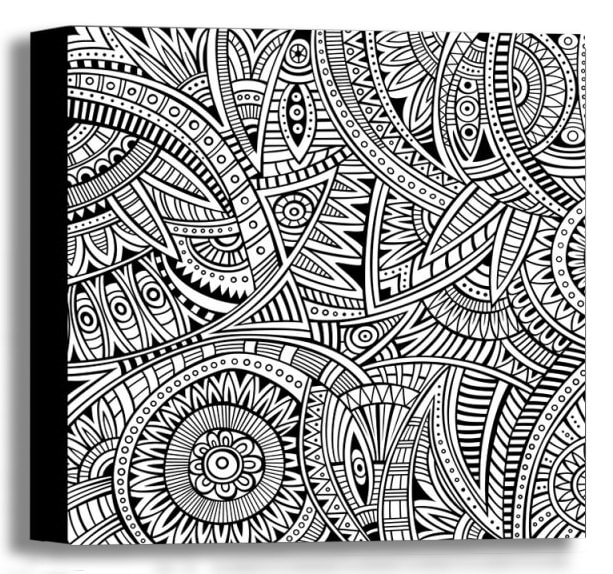 Color Your Own Canvas-Ethnic 16x16