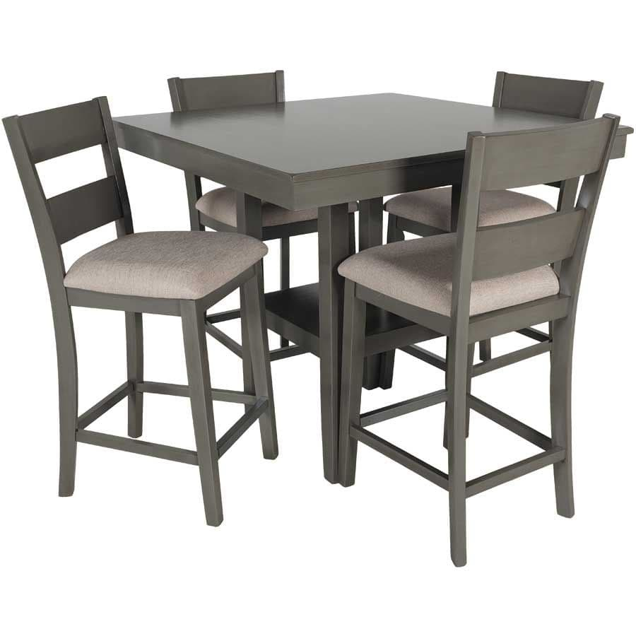 Grey Bar Height Table and Bar Stools