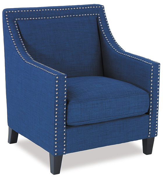 Trina Blue Accent Chair