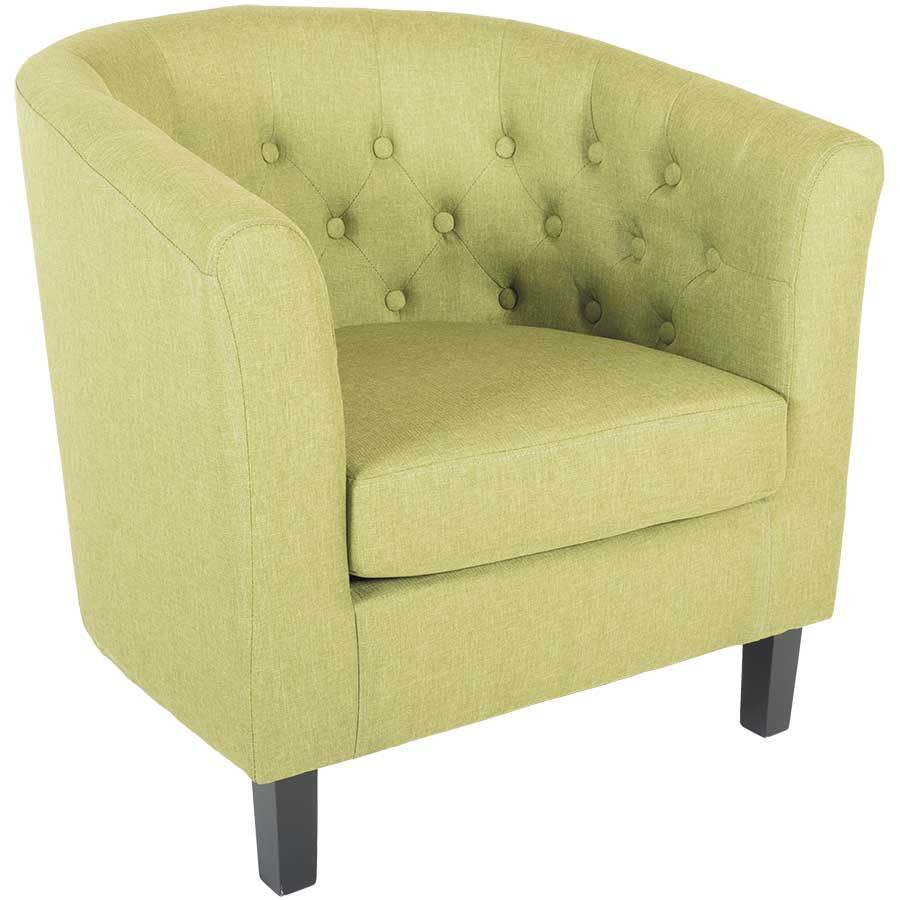 Mallory Green Tufted Tub Chair