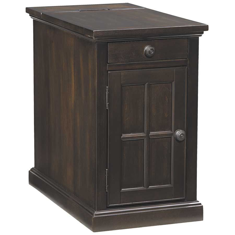 Laflorn Brown-Black Power Chairside End Table