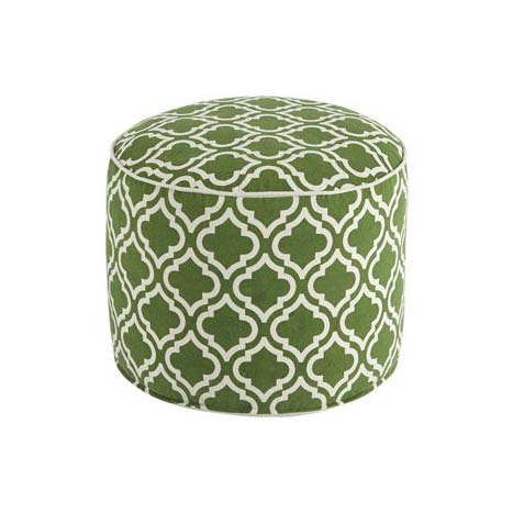 Geometric Pouf in Green