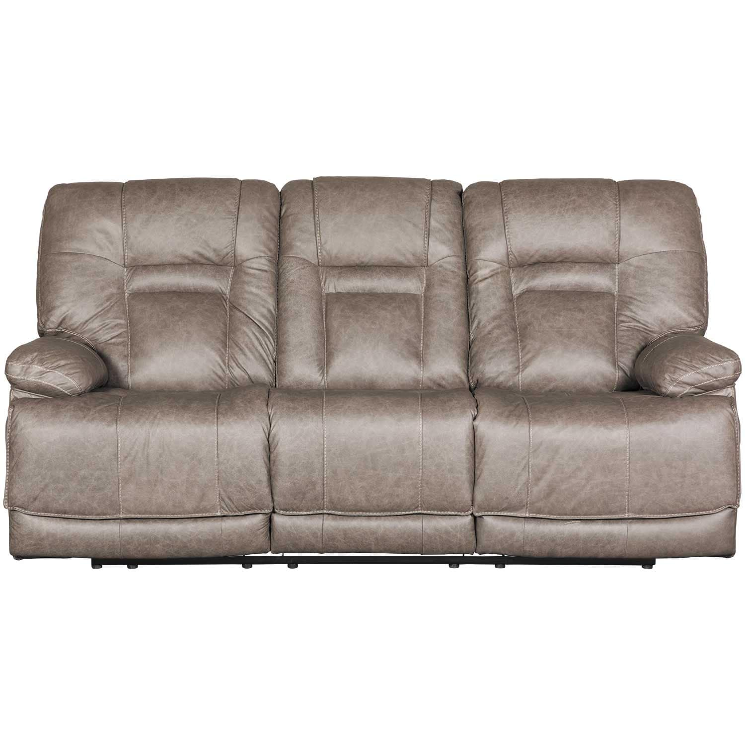 Wurstrow Smoke Italian Leather Power Reclining Sofa