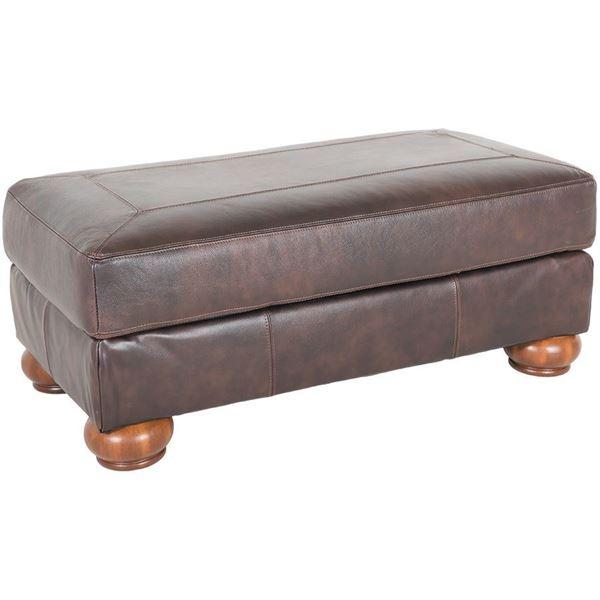 Axiom Walnut All Leather Ottoman 0bb 420o Ashley Furniture 4200014