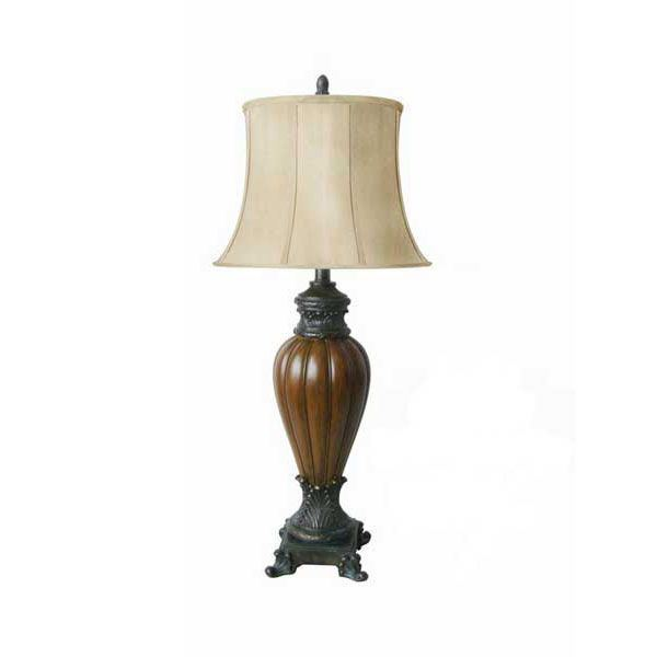 Picture of Traditional Lamp with Footed Base