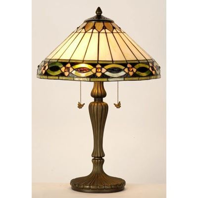 Picture of Set of Two Table Lamps with Tiffany Shade