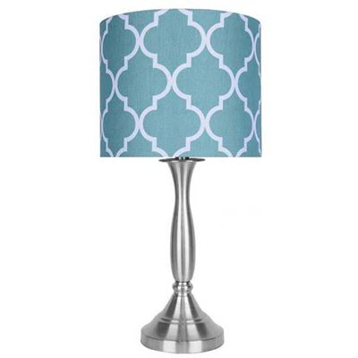 Picture of Aqua White Shade Lamp 22 Inch Steel