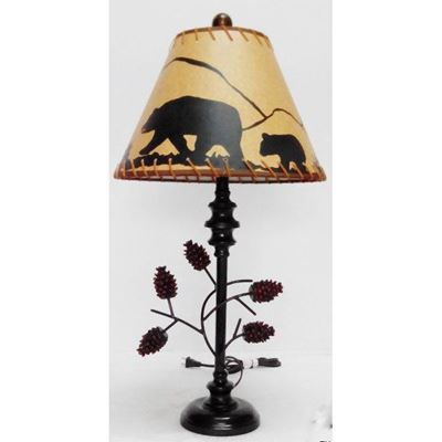 Picture of Pine Cone Table Lamp Bear Shad