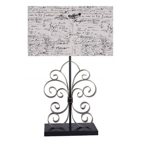 Picture of Script Shade Metal Lamp 28 In