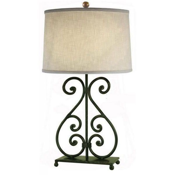 Picture of Scroll Iron On Base Tbl Lamp