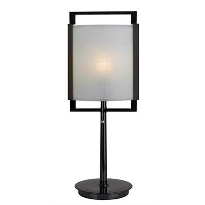 Picture of Blk Chrome and Glass Table Lamp