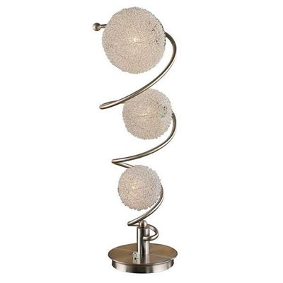 Picture of Chrome & Wire Ball Table Lamp
