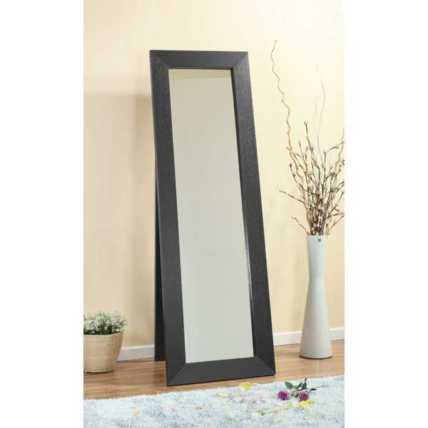 Picture of Leaner Mirror, Black Grain