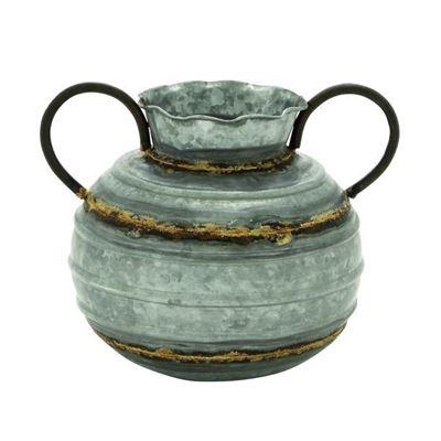 Picture of Jade Metal Vase W/Handle