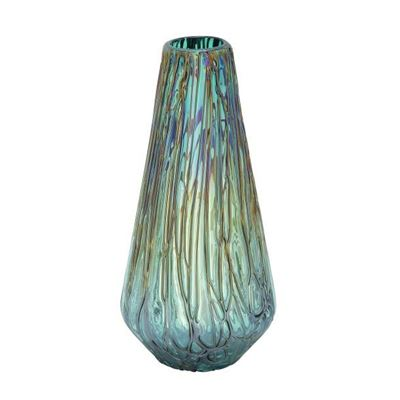 Picture of Teal Drip Glass Vase