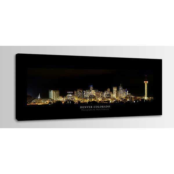 Picture of Denver Colorado Night Skyline 60x20 *D
