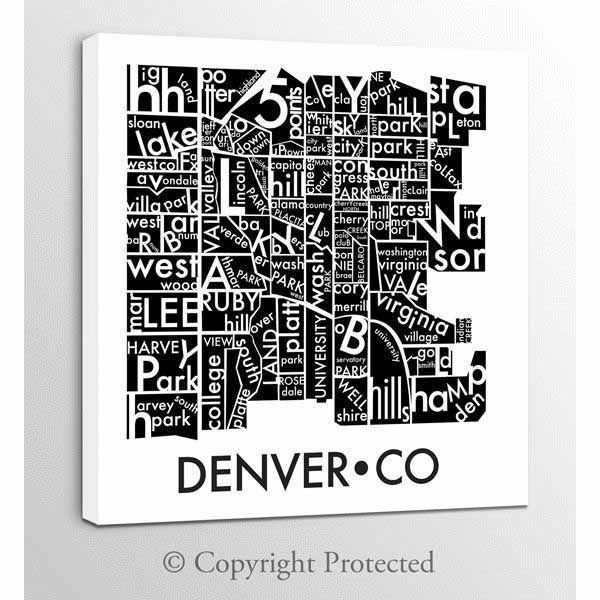 Picture of Denver Neighborhoods 36x36 *D