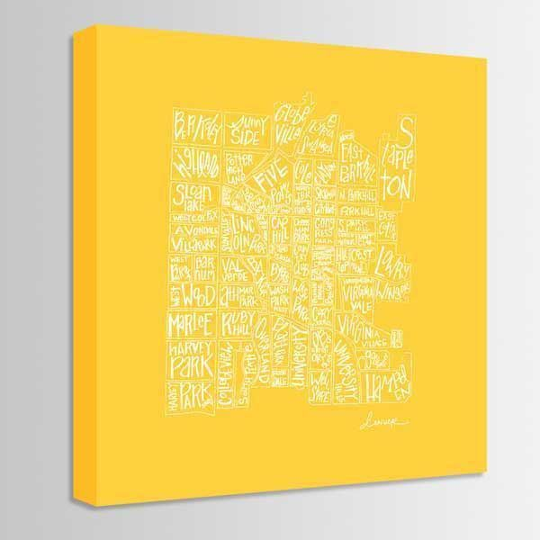 Picture of Yellow Denver 36X36 *D