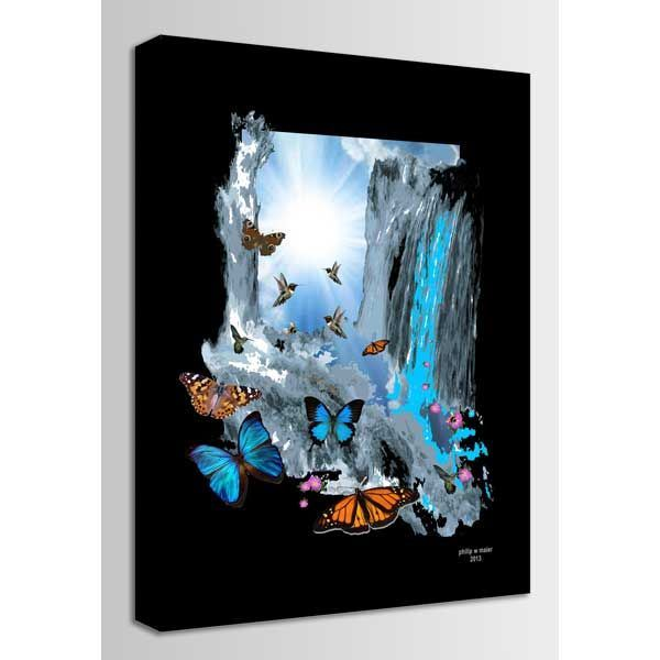 Picture of Colorado Waterfall In Wonder 36x24 *D