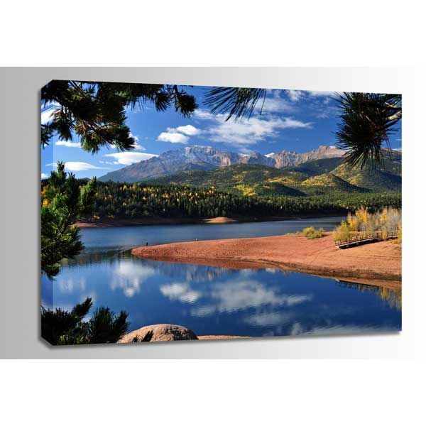 Picture of Pikes Peak at Crystal Reservoir 48x32 *D