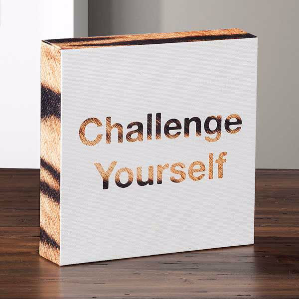 Picture of Challenge Yourself Canvas Message Cube
