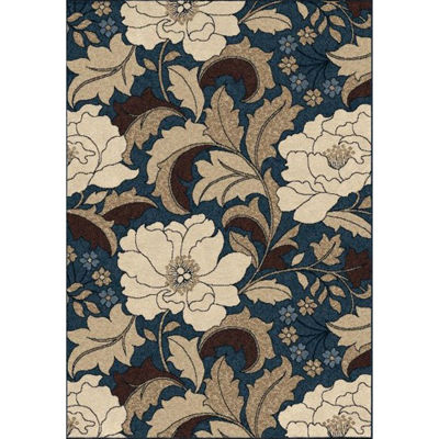 Picture of Sonoma Tillis Blue Easy Clean 7x10 Rug