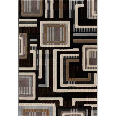 Picture of Grid Charcoal Squares 5x7 Rug
