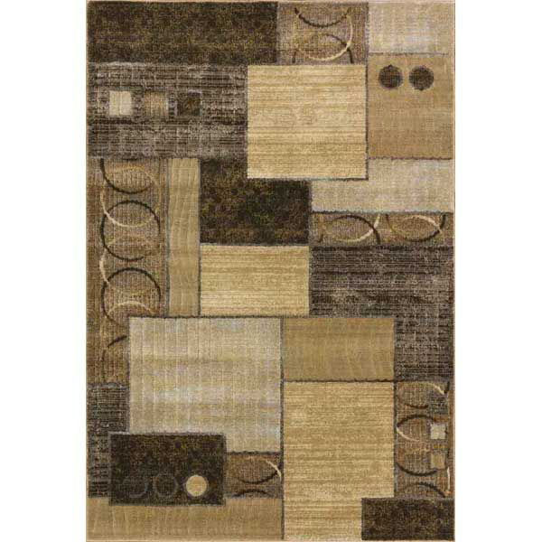 Picture of Decker Cocoa Gold Squares 5x7 Rug