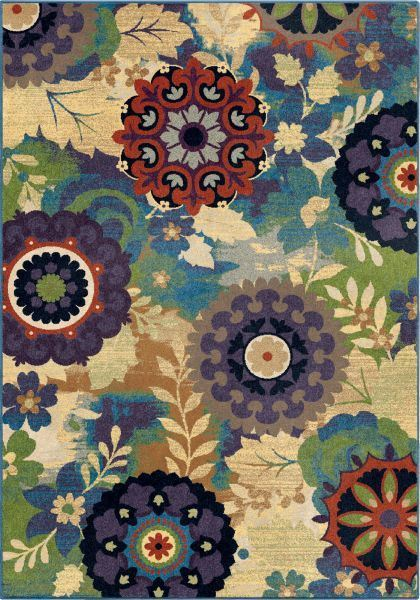 Picture of Florence Timken Aqua 7x10 Rug